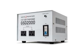 Genpower 2000W Step Down Transformer 240V-110V Stepdown Voltage Converter AU-US