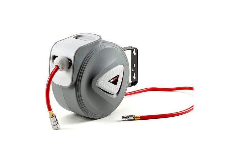 UNIMAC 10m Retractable Air Hose Reel Compressor Wall Mounted Auto Rewind