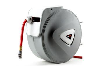 UNIMAC 20m Retractable Air Hose Reel Compressor Wall Mounted Auto Rewind