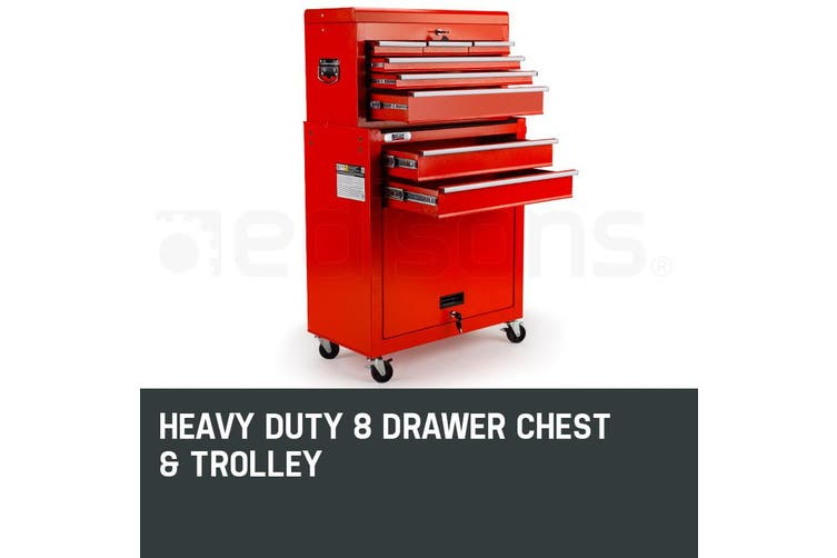 BULLET 8 Drawer Tool Box Cabinet Chest Storage Toolbox Garage Organiser Set