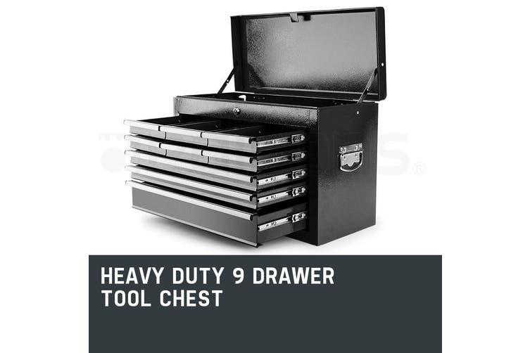 BULLET 9 Drawer Tool Box Chest Mechanic Garage Storage Toolbox Set Organiser