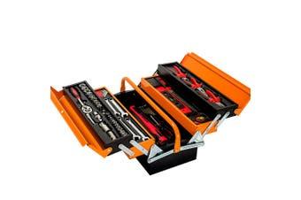 BULLET 118pc Tool Kit Box Set Metal Spanner Organizer Toolbox Household Socket