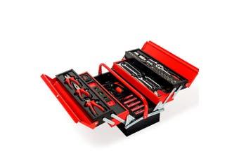 BULLET 118pc Tool Kit Box Set Metal Spanner Household Organizer Toolbox Socket