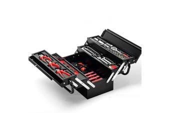 BULLET 118pc Tool Kit Box Set Metal Spanner Organizer Household Socket Toolbox