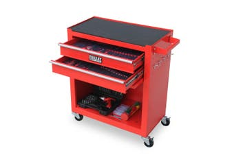 BULLET Tool Kit Chest Cabinet Box Set Storage Metal Wheels Rolling Drawers Steel Red