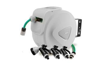 PLANTCRAFT 10M Retractable Garden Water Hose Reel Storage Spray Gun Rewind