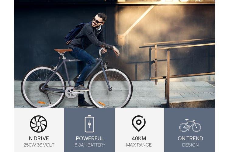 VALK Electric Bike Commuter Bicycle e-bike Lithium Battery eBike Fixed Powered