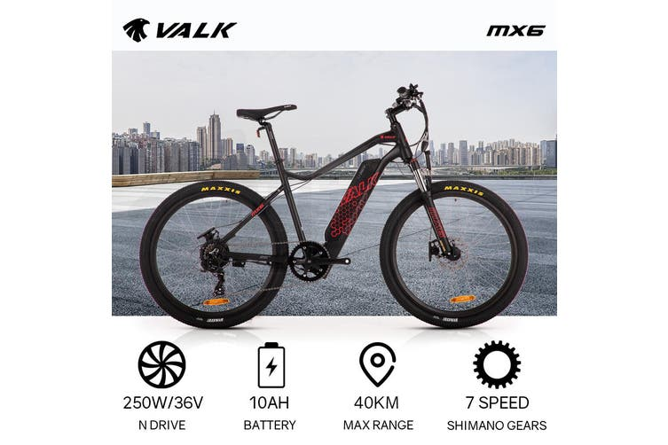 VALK Electric Bike eBike Motorized Bicycle Battery Mountain eMTB 36V 250W 26 Inch