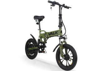 VALK 250W Electric Bike Dual Suspension Folding Foldable e-Bike eBike Commuter