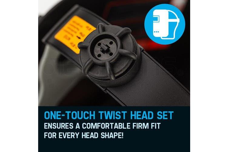 ROSSI Welding Helmet Solar Auto Darkening Mask TIG/MIG/ARC Welder Machine