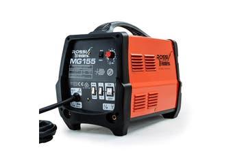 ROSSI 155Amp MIG ARC MAG Gas Gasless Welder DC Welding Machine Inverter Tool