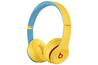 Beats Solo3 Wireless On-Ear Headphones Club Collection - Yellow [Au Stock]