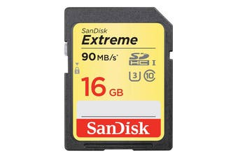 Sandisk Extreme 90MB/s U3 Class 10 4K SDHC 16GB