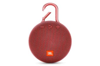 JBL Clip 3 Portable Bluetooth Speaker With Carabiner - Red [Au Stock]