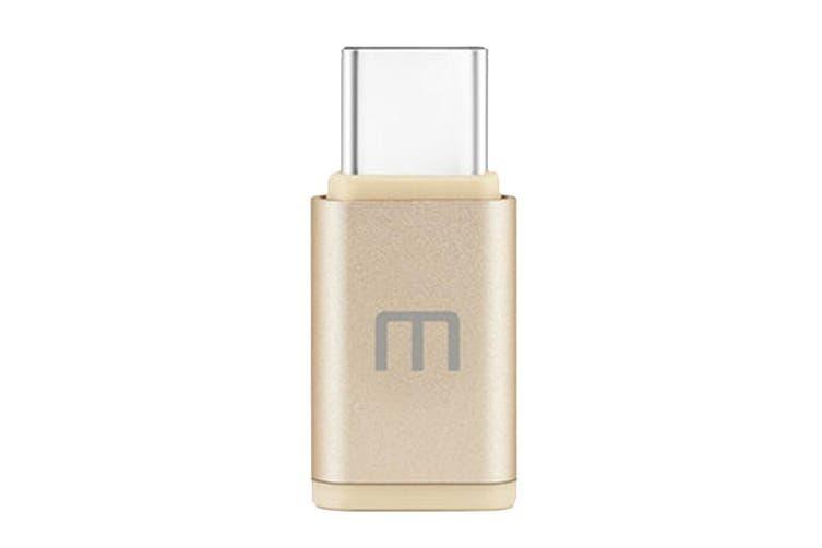 Meizu Micro USB to Type-C Adaptor - Gold [Au Stock]