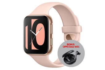 OPPO Smart Watch Bluetooth 41mm OW19W6  (Bonus Enco W31 w/ Redemption) - Pink Gold [Au Stock]