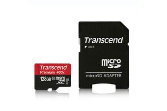 Transcend Premium 400x 128GB 60MB/s MicroSDXC with Adapter [Au Stock]
