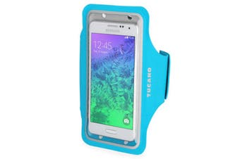 """Tucano Sporty Universal Arm Band Smartphone Case Up to 5"""" - Blue [Au Stock]"""