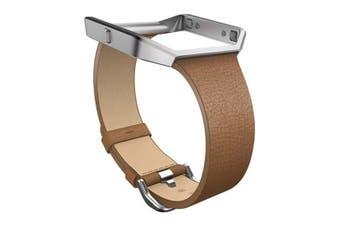 Fitbit Blaze Band Leather Large FB159LBCML - Camel [Au Stock]
