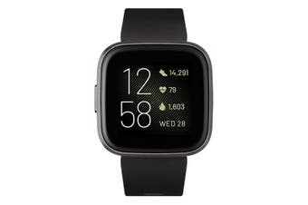 Fitbit Versa 2 Smart Watch - Black/Carbon Aluminium [Au Stock]
