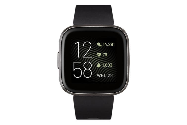 Fitbit Versa 2 Smart Watch - Black/Carbon Aluminium [Au Stock]