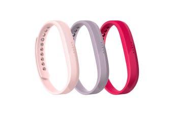 Fitbit Flex 2 Accessory Triple Pack Large FB161AB3PKL - Pink [Au Stock]
