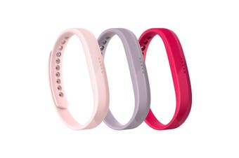 Fitbit Flex 2 Accessory Triple Pack Small FB161AB3PKS - Pink  [Au Stock]
