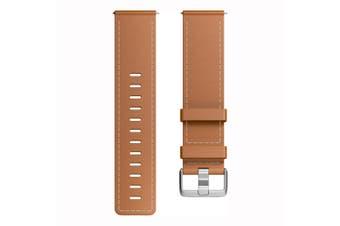Fitbit Versa band Leather FB166LBBRL Large -  Saddle Stitch  [Au Stock]