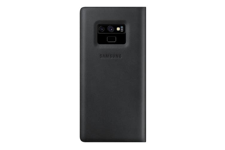 Samsung Galaxy Note 9 Leather Wallet Cover - Black [Au Stock]