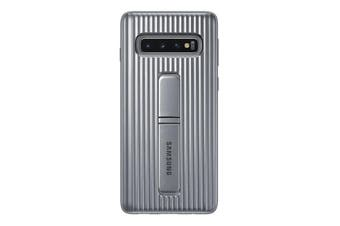 Samsung Galaxy S10 Protective Standing Cover - Silver [Au Stock]