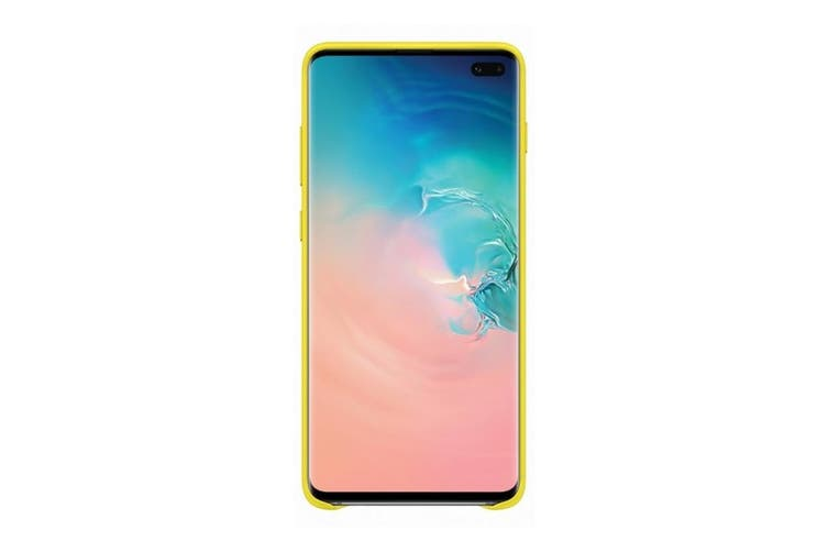 Samsung Galaxy S10+ Plus Leather Back Cover - Yellow [Au Stock]