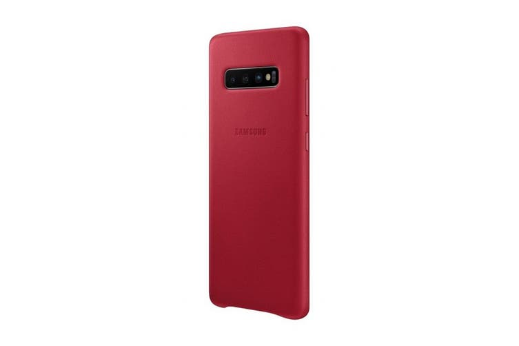 Samsung Galaxy S10+ Plus Leather Back Cover - Red [Au Stock]
