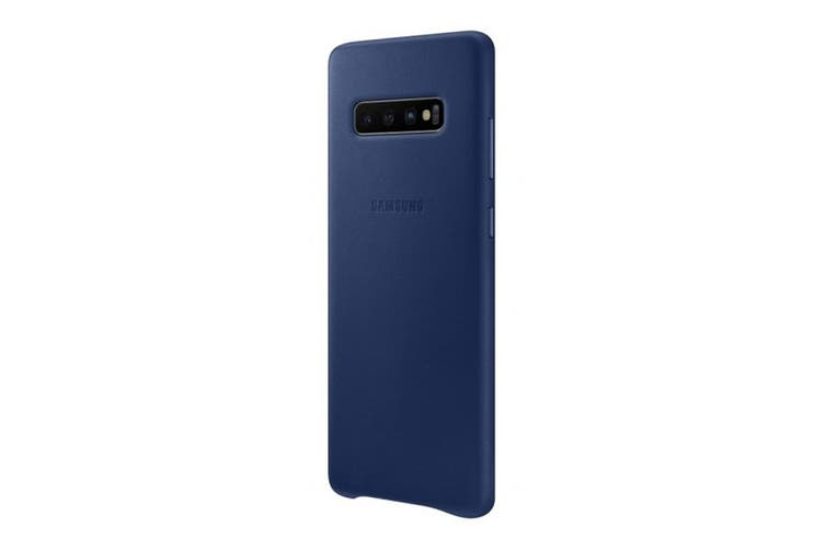 Samsung Galaxy S10+ Plus Leather Back Cover - Navy [Au Stock]