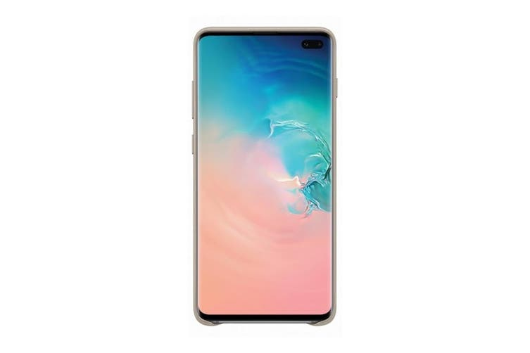 Samsung Galaxy S10+ Plus Leather Back Cover - Grey [Au Stock]