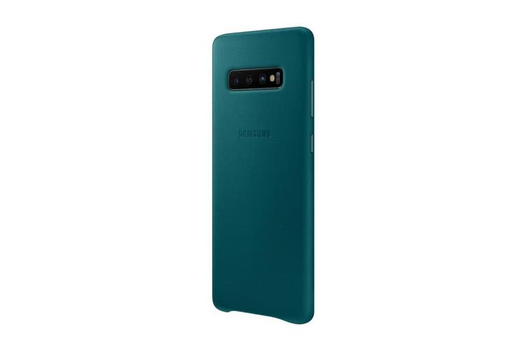 Samsung Galaxy S10+ Plus Leather Back Cover - Green [Au Stock]