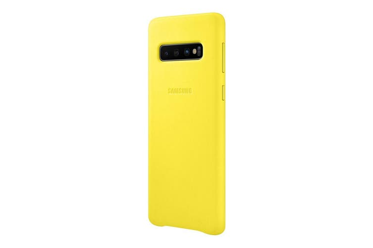 Samsung Galaxy S10 Leather Back Cover - Yellow [Au Stock]