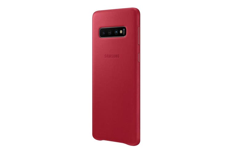 Samsung Galaxy S10 Leather Back Cover - Red [Au Stock]