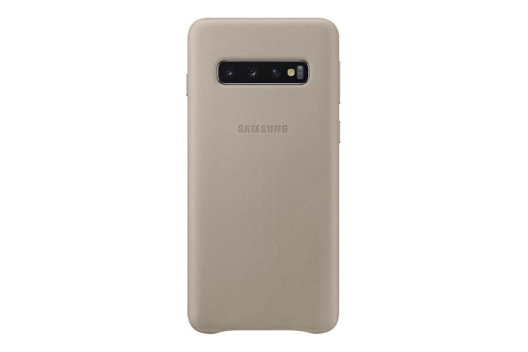 Samsung Galaxy S10 Leather Back Cover - Grey [Au Stock]