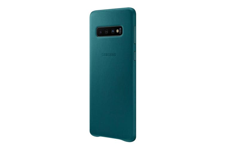 Samsung Galaxy S10 Leather Back Cover - Green [Au Stock]