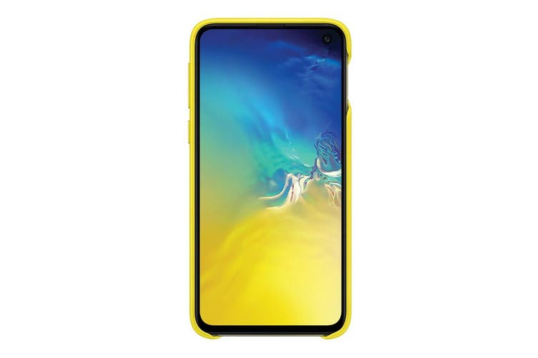 Samsung Galaxy S10e Leather Back Cover - Yellow [Au Stock]