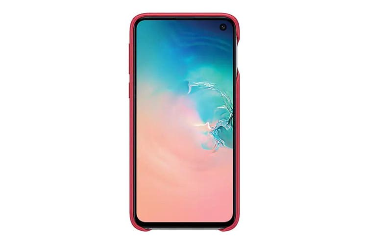 Samsung Galaxy S10e Leather Back Cover - Red [Au Stock]