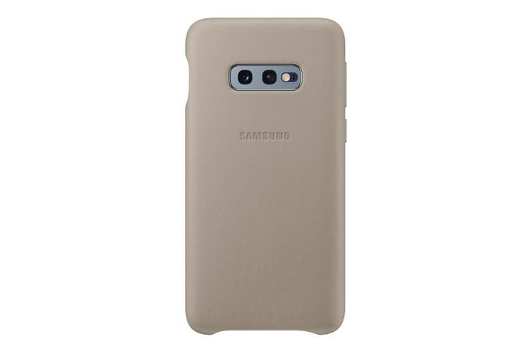 Samsung Galaxy S10e Leather Back Cover - Grey [Au Stock]
