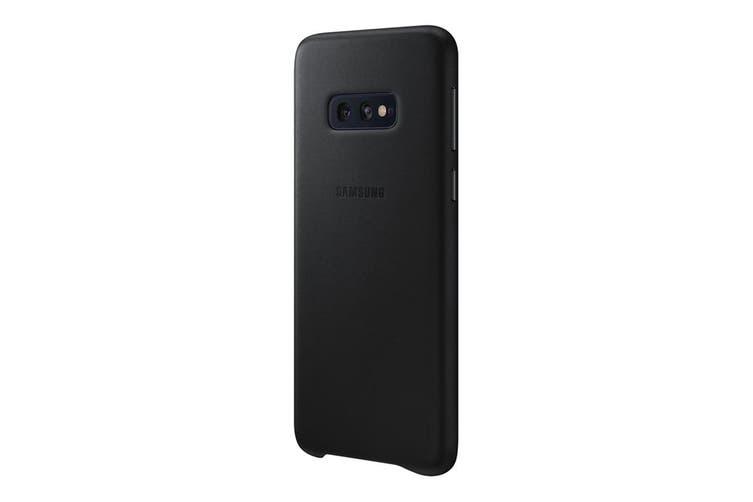 Samsung Galaxy S10e Leather Back Cover - Black [Au Stock]