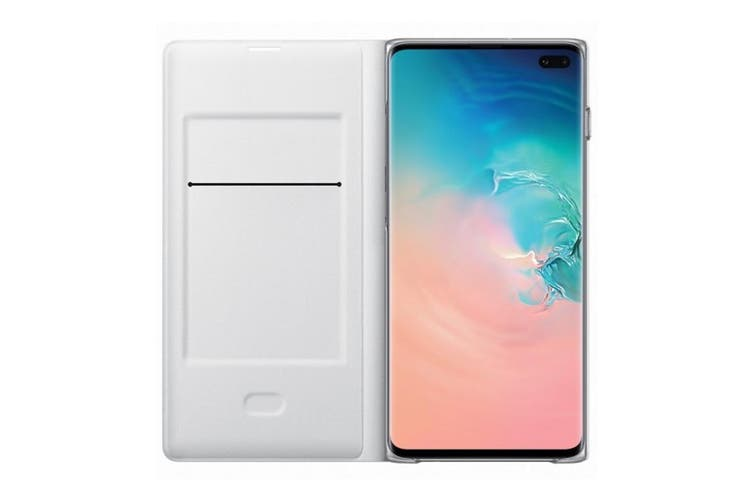 Samsung Galaxy S10+ Plus LED View Wallet Cover - White [Au Stock]