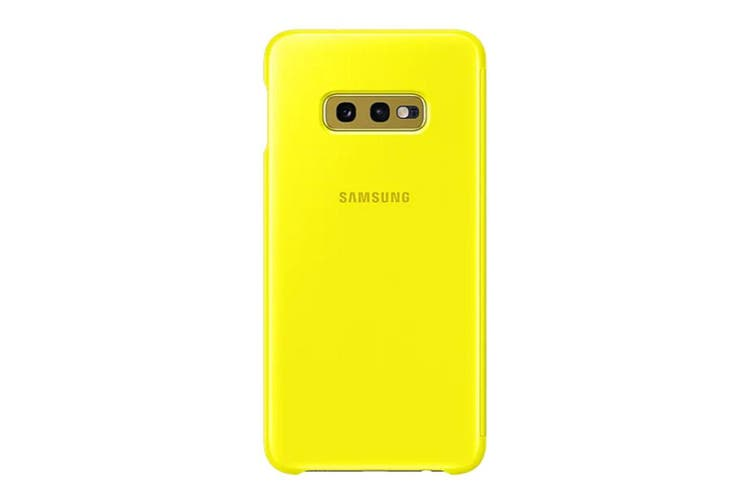 Samsung Galaxy S10e Clear View Cover - Yellow [Au Stock]
