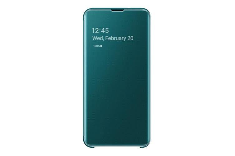 Samsung Galaxy S10e Clear View Cover - Green [Au Stock]