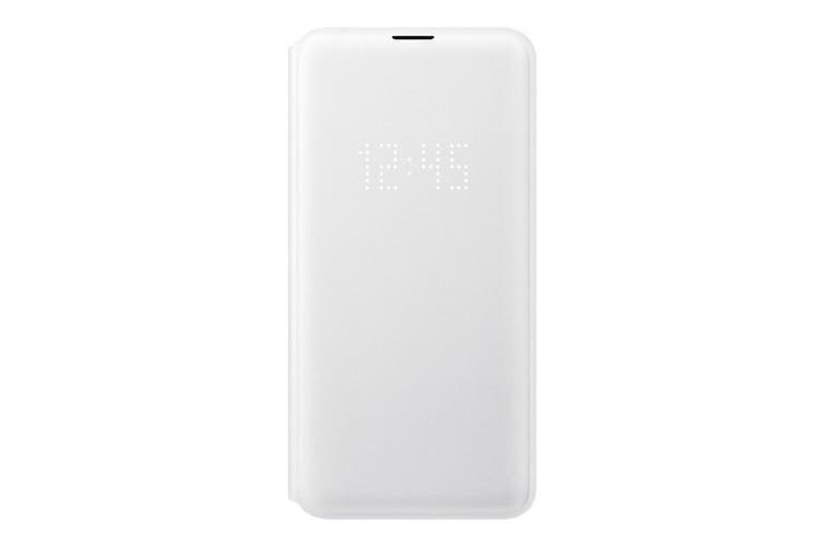 Samsung Galaxy S10e LED View Wallet Cover - White [Au Stock]