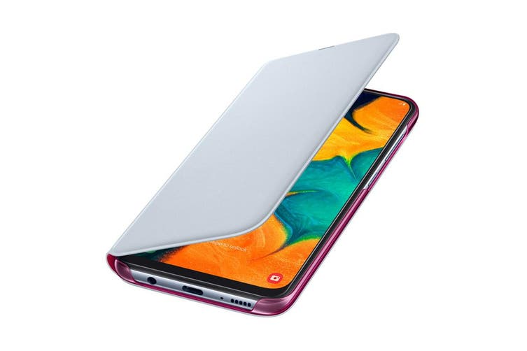 Samsung Galaxy A30 Wallet Cover - White [Au Stock]