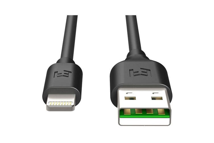 EFM 2m Flipper USB to Lightning Charge & Sync Cable - Black [Au Stock]