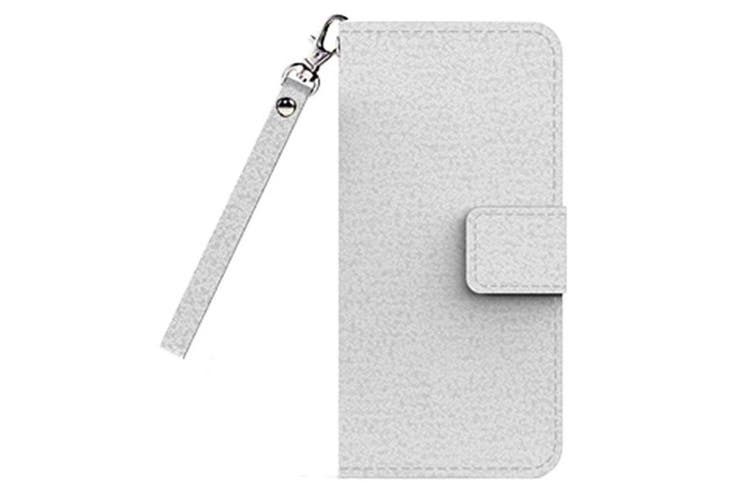 Cleanskin Flip Wallet Case with Mag-Latch for Apple iPhone 7 - White [Au Stock]
